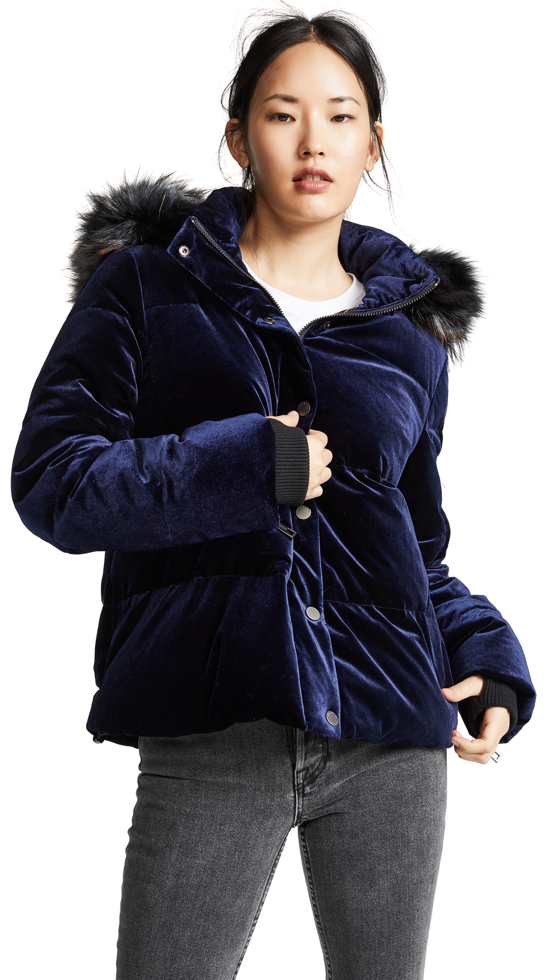 Photo of Jocelyn Velvet Down Puffer Jacket - buy Jocelyn jackets online