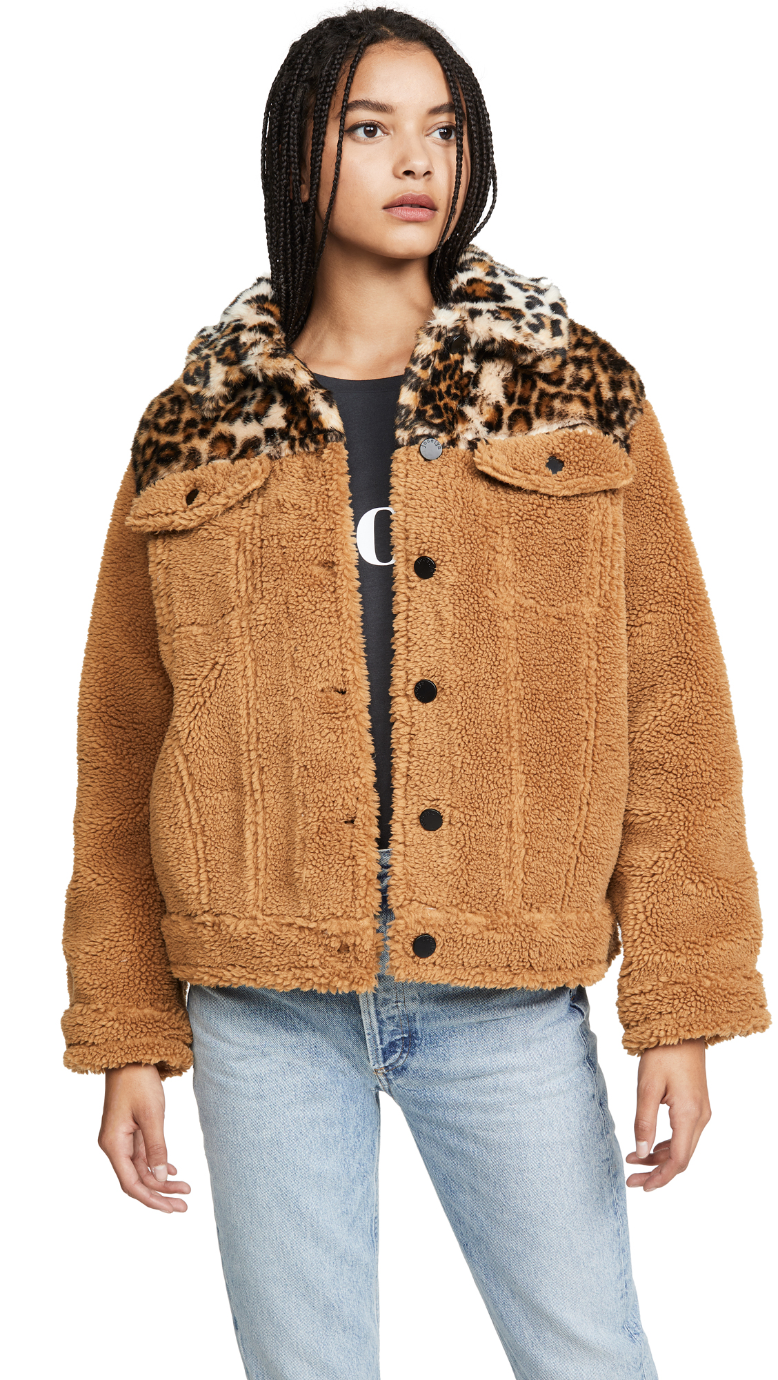 Buy Jocelyn online - photo of Jocelyn Camel Teddy Jacket