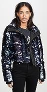Jocelyn Sequin Cropped Puffer Jacket