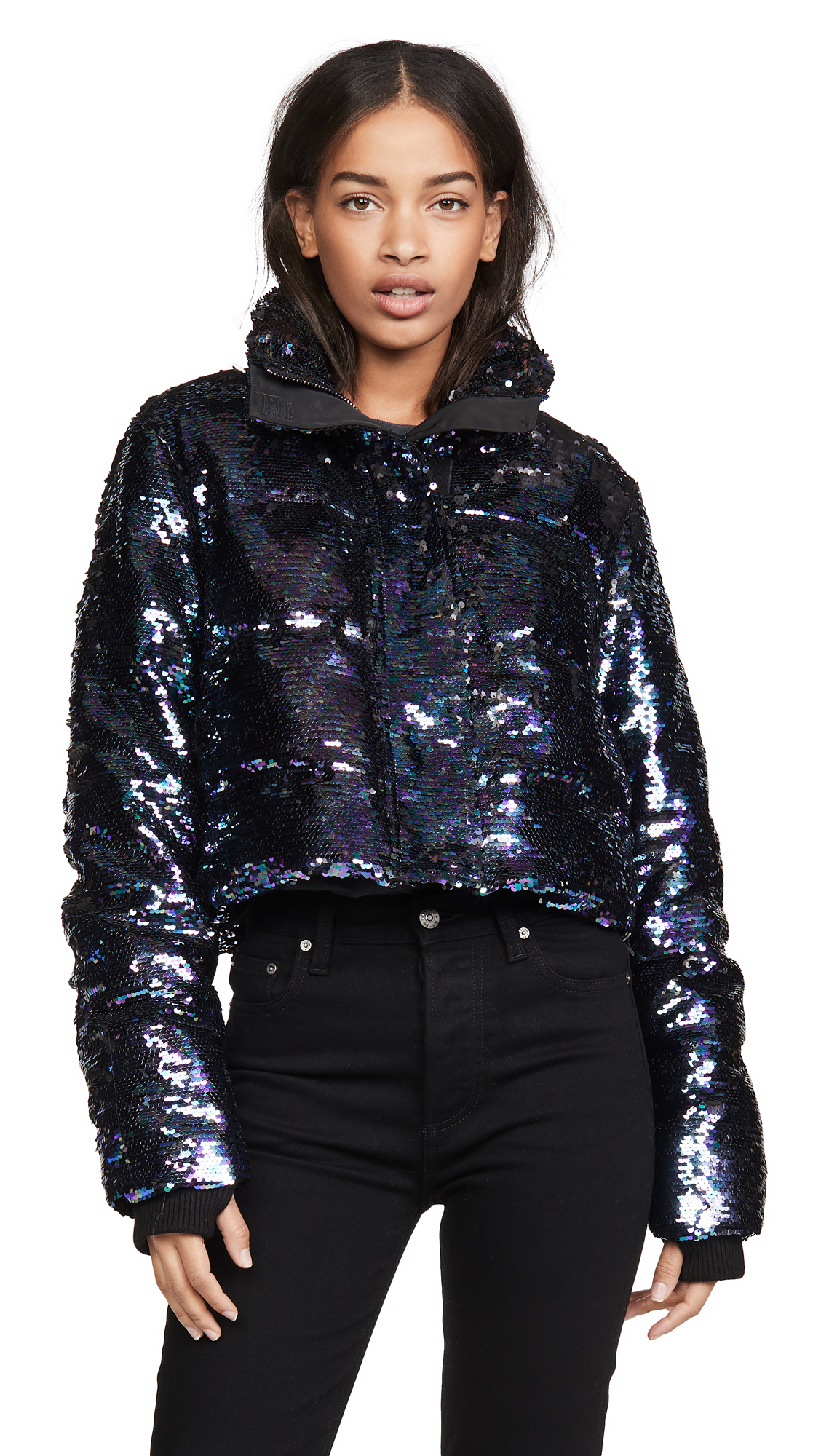 Buy Jocelyn Sequin Cropped Puffer Jacket online beautiful Jocelyn Jackets, Coats, Down Jackets