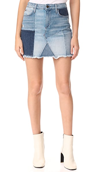 Joe's Jeans The Slit Patchwork Denim Skirt