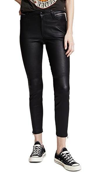 Joe's Jeans Charlie Ankle Leather Pants In Ryden