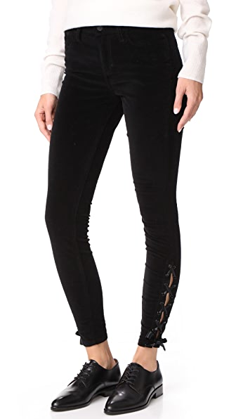 The Velvet Icon Ankle Skinny Jeans