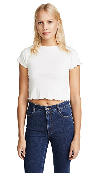 Joe's Jeans x Taylor Hill Baby Tee In Porcelain