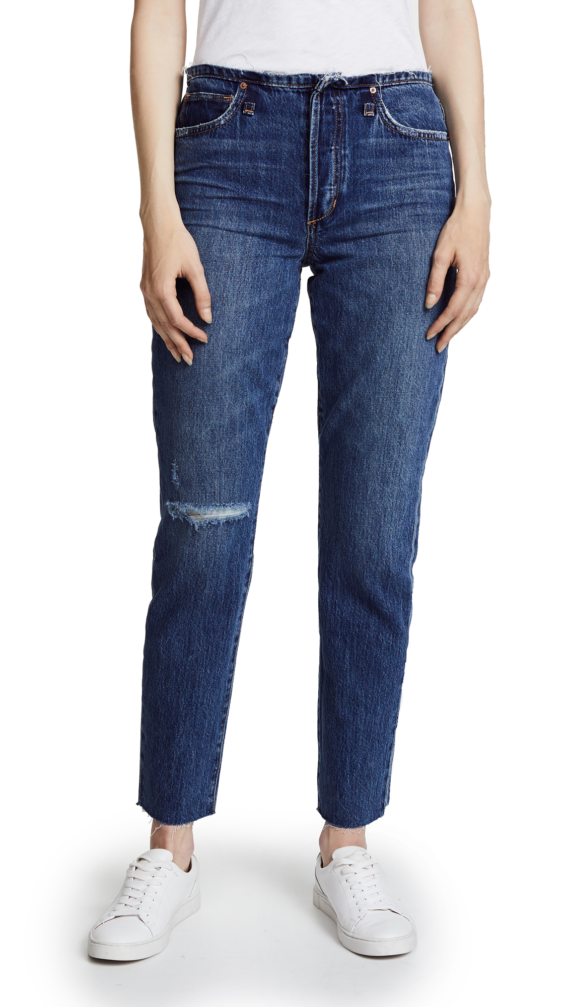 Joe's Jeans The Kass Waistless Slim Straight Ankle Jeans In Dyanna