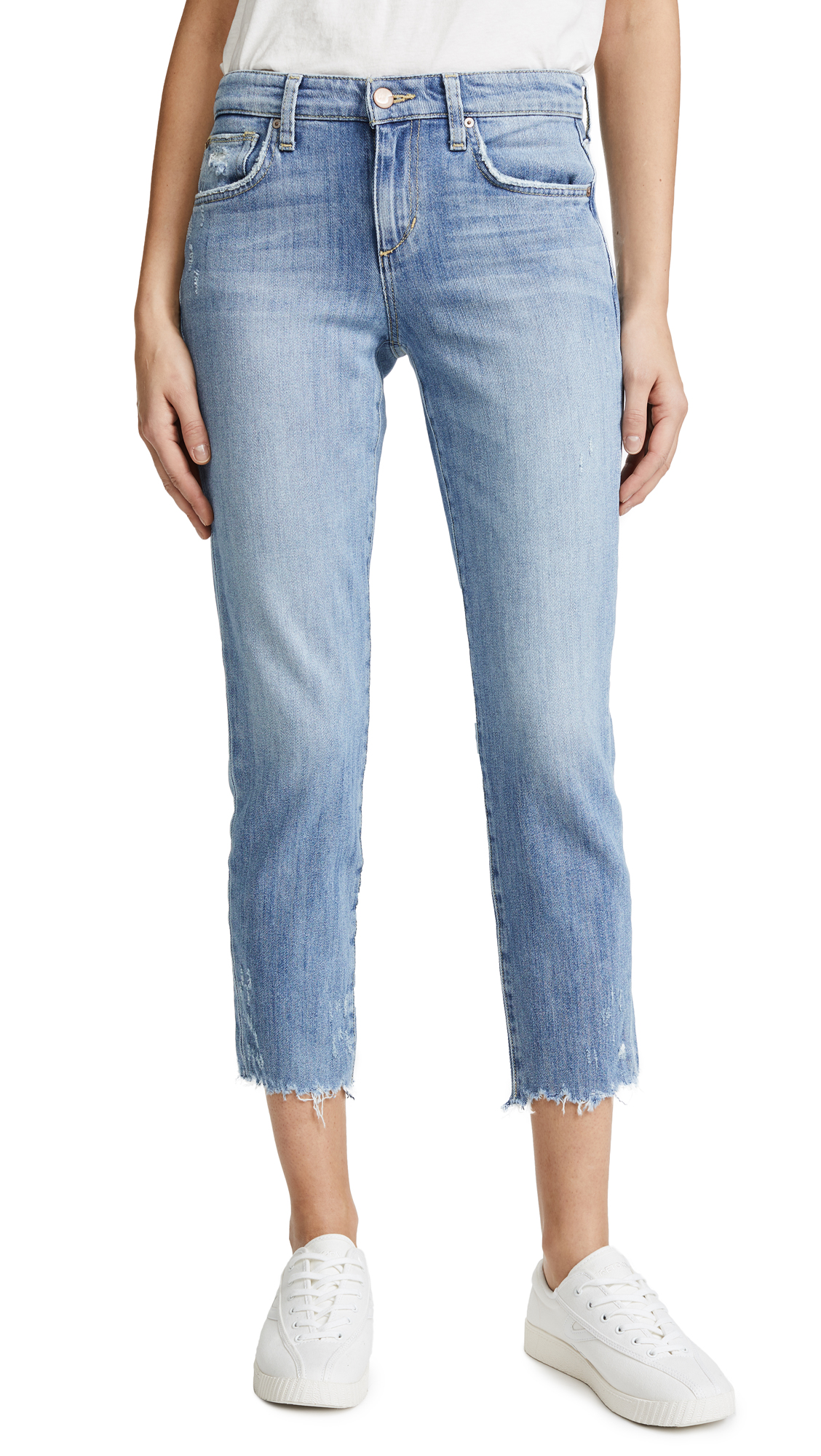 Joe's Jeans Smith Mid Rise Straight Ankle Jeans In Zuma