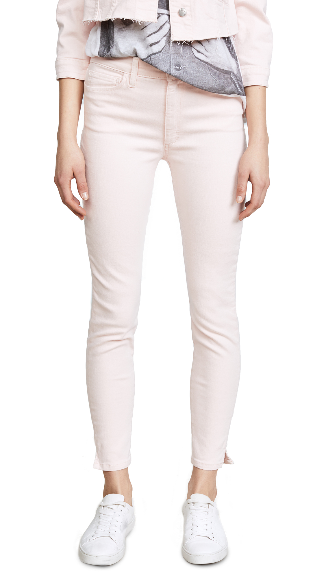 Joe's Jeans The Charlie High Rise Skinny Ankle Jeans In New Rose