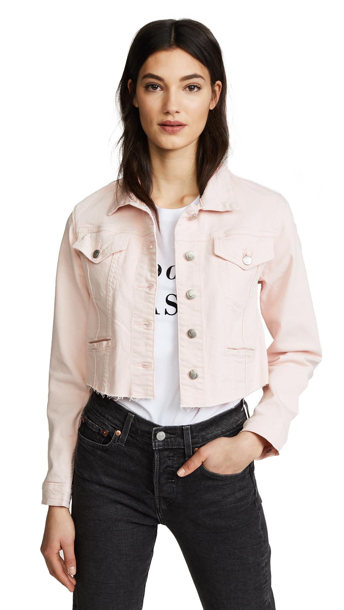 Joe's Jeans Cropped Denim Jacket In New Rose