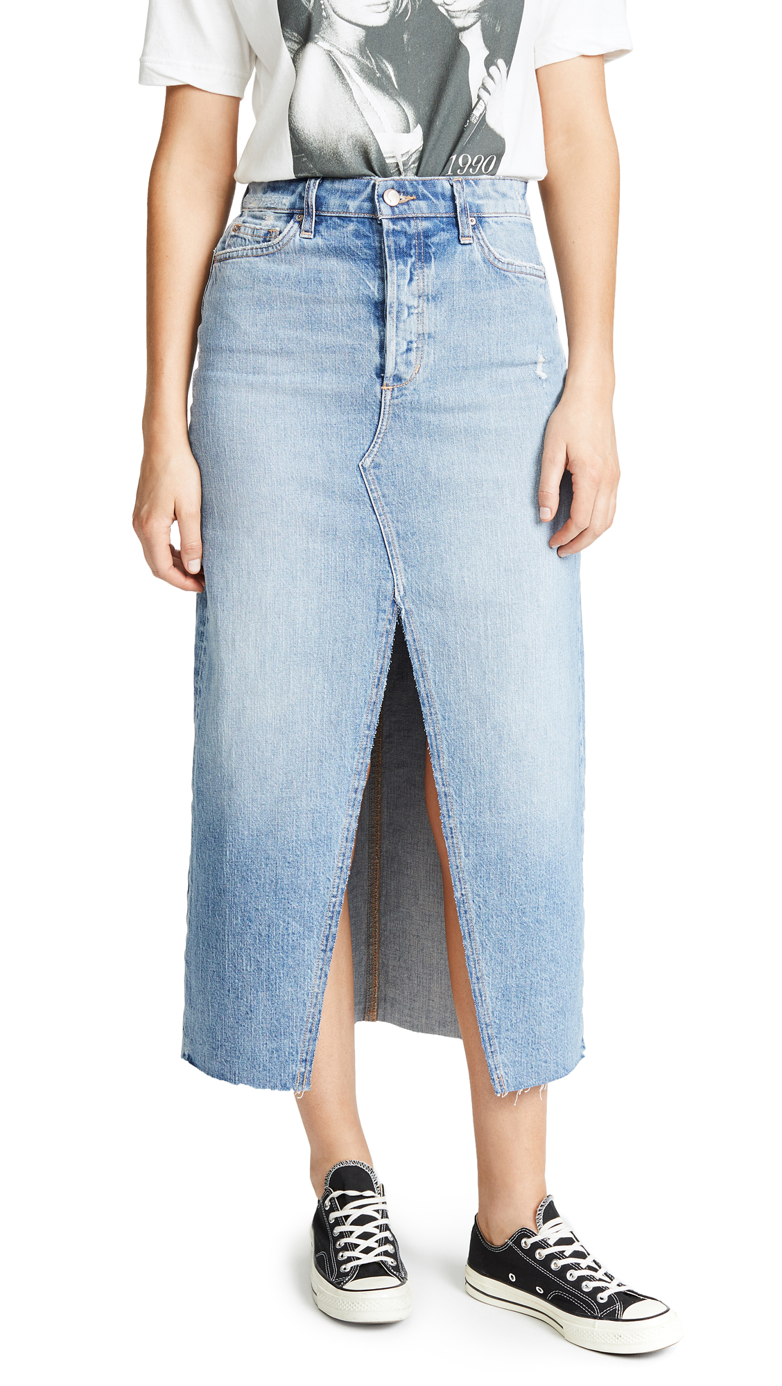Joe's Jeans Elliza Long Denim Skirt In Elliza