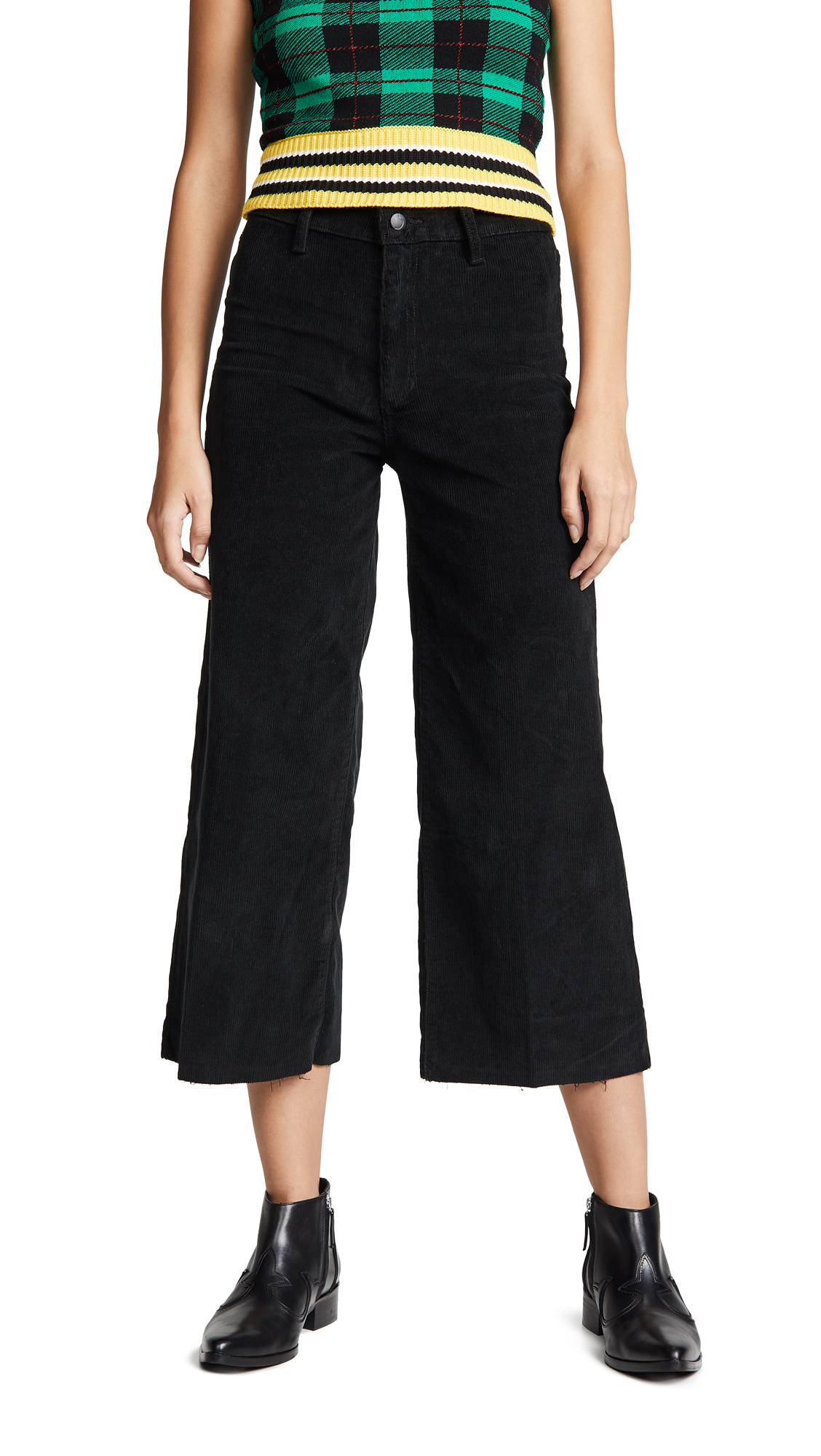 Joes Jeans The Crop Wide Leg Cords - Black