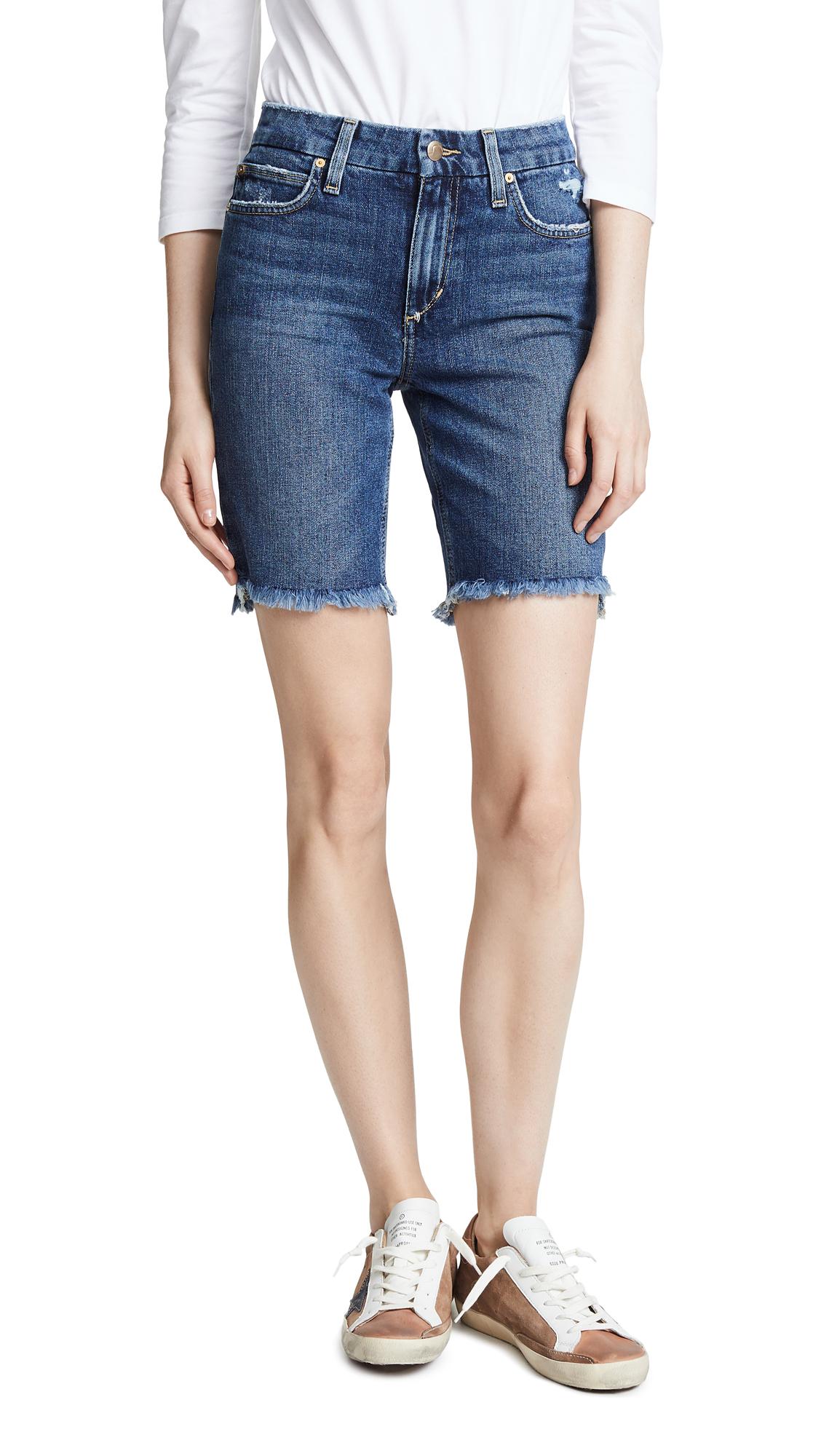Joe's Jeans High Rise Honey Bermuda Shorts In Saxton