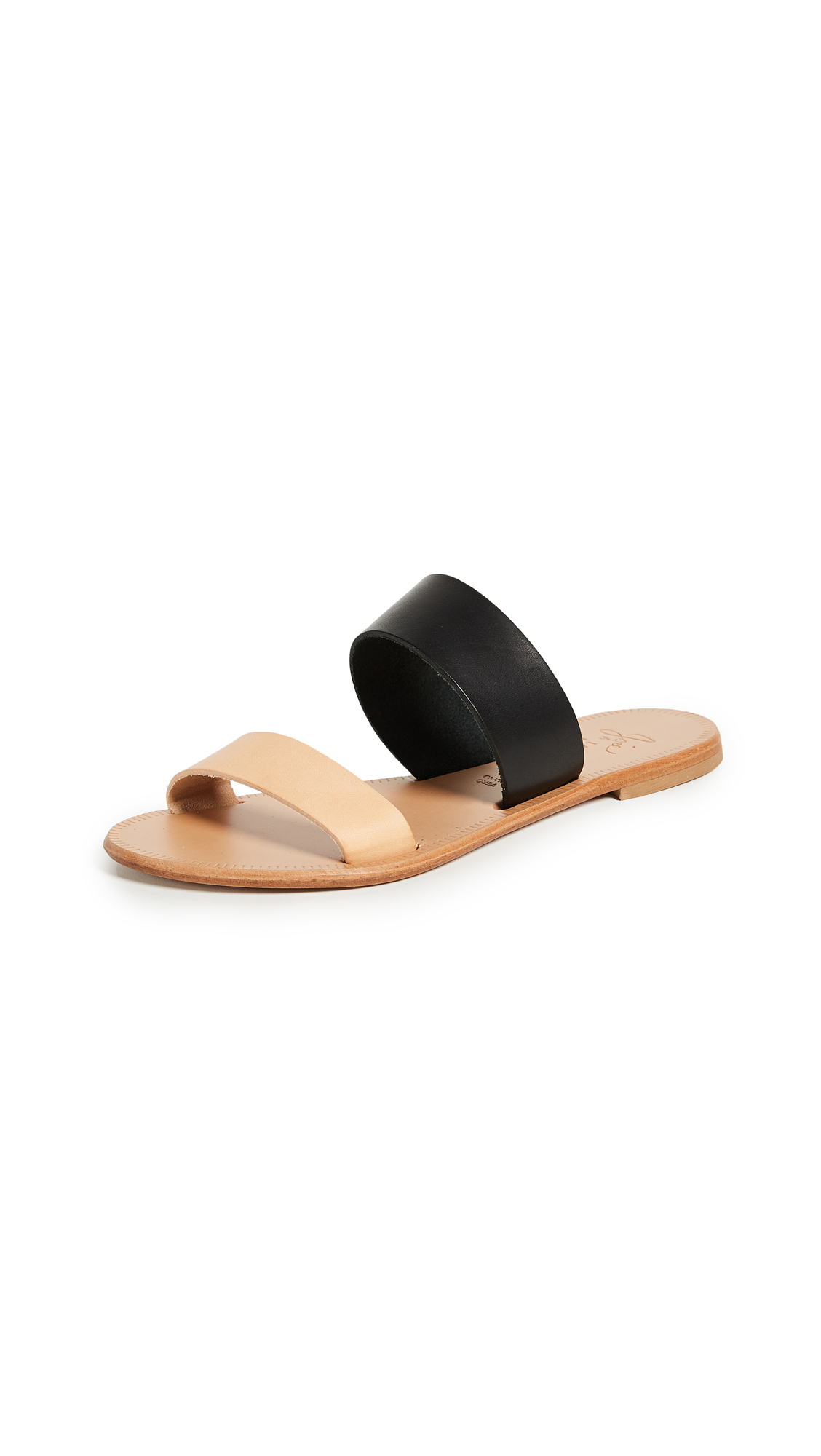 Joie A La Plage Sable Two Band Sandals - Black/Natural