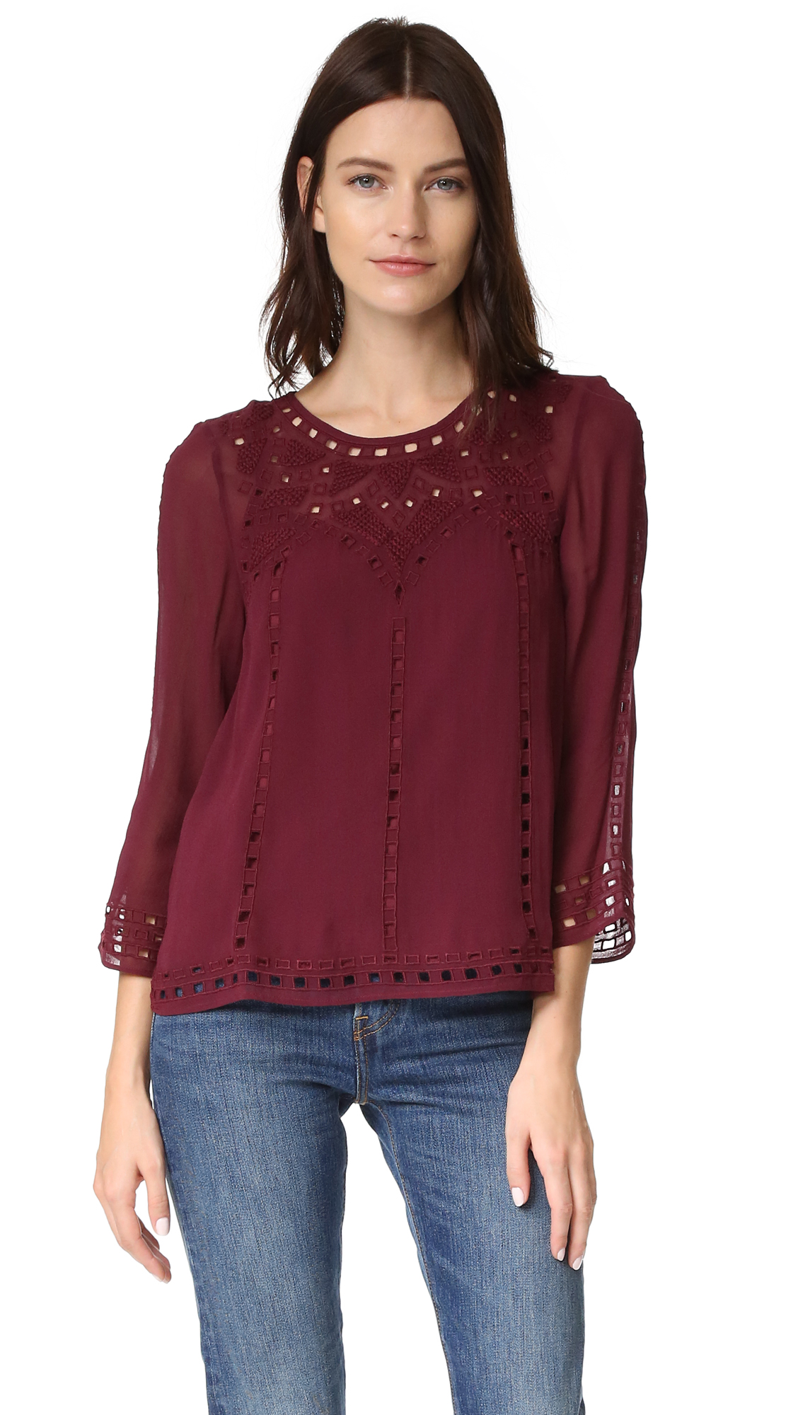 Joie Gaiane Blouse - Raisin at Shopbop