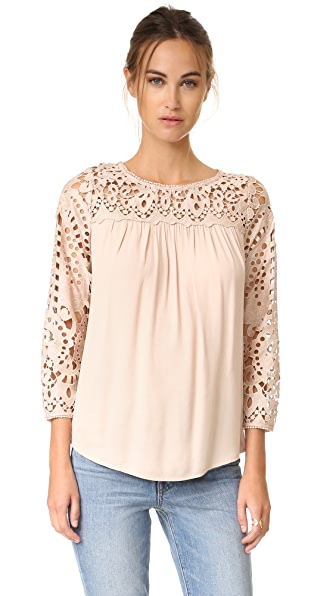 Joie Lindy Blouse - Almond
