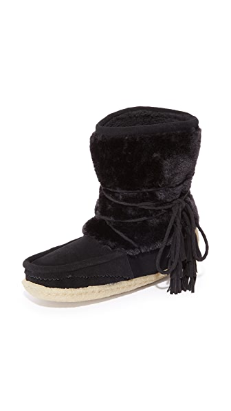 Joie Alabama Eskimo Booties - Black/Black