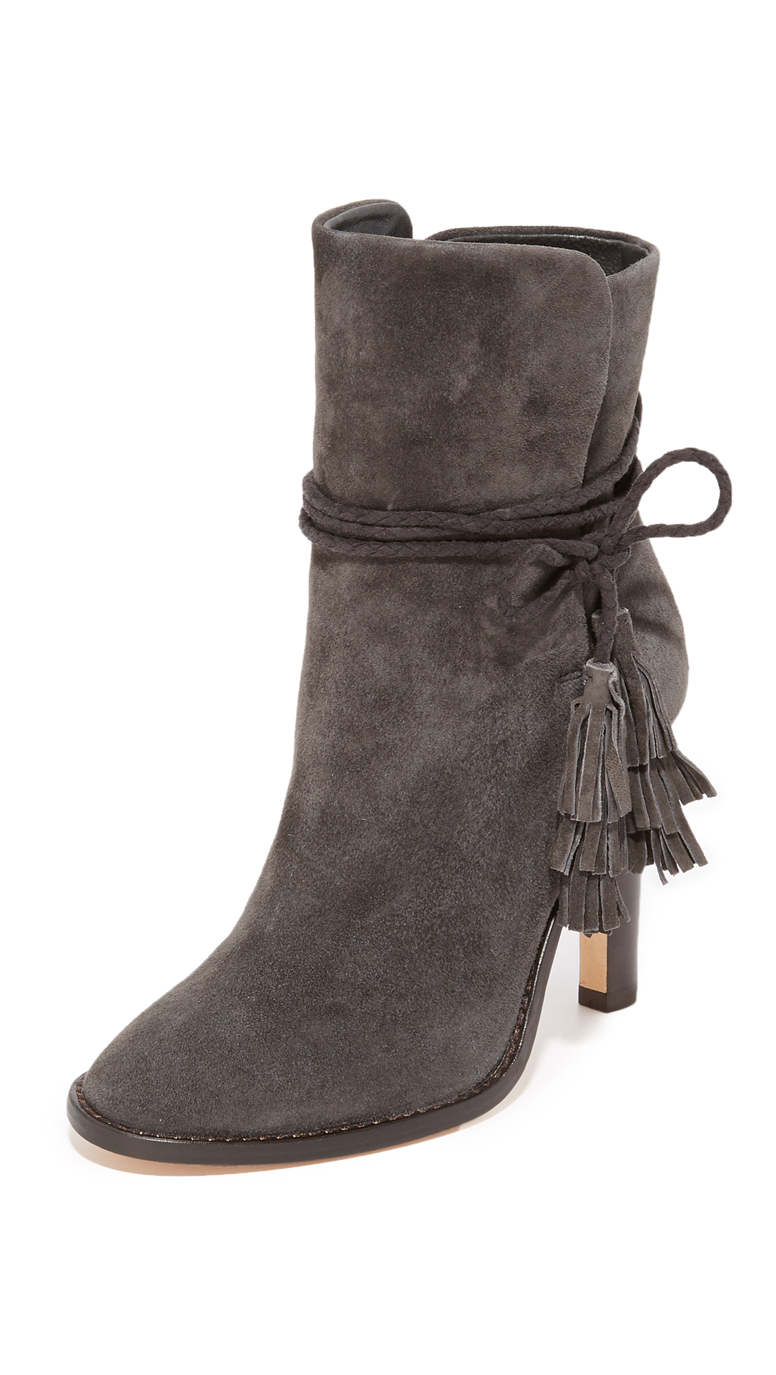 Joie Chap Tassel Booties - Graphite at Shopbop