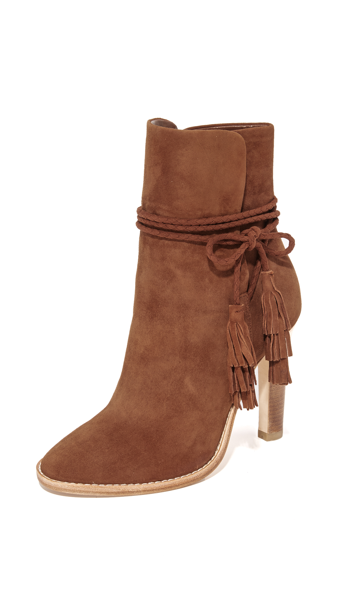 Joie Chap Tassel Booties - Chestnut at Shopbop