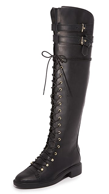 Joie Gryffin Lace Up Over the Knee Boots