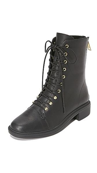 Joie Hartlyn Combat Boots - Black