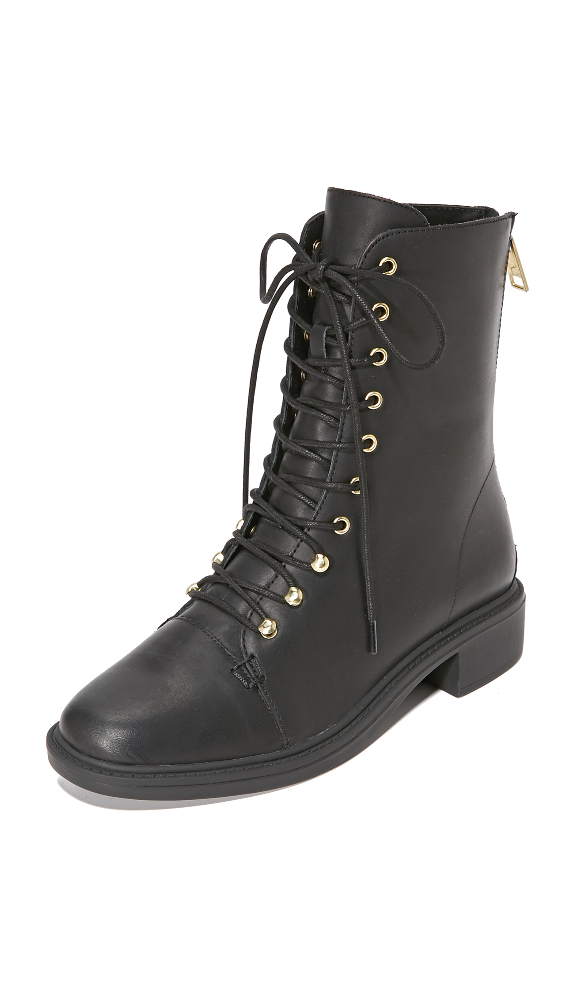 Joie Hartlyn Combat Boots - Black at Shopbop