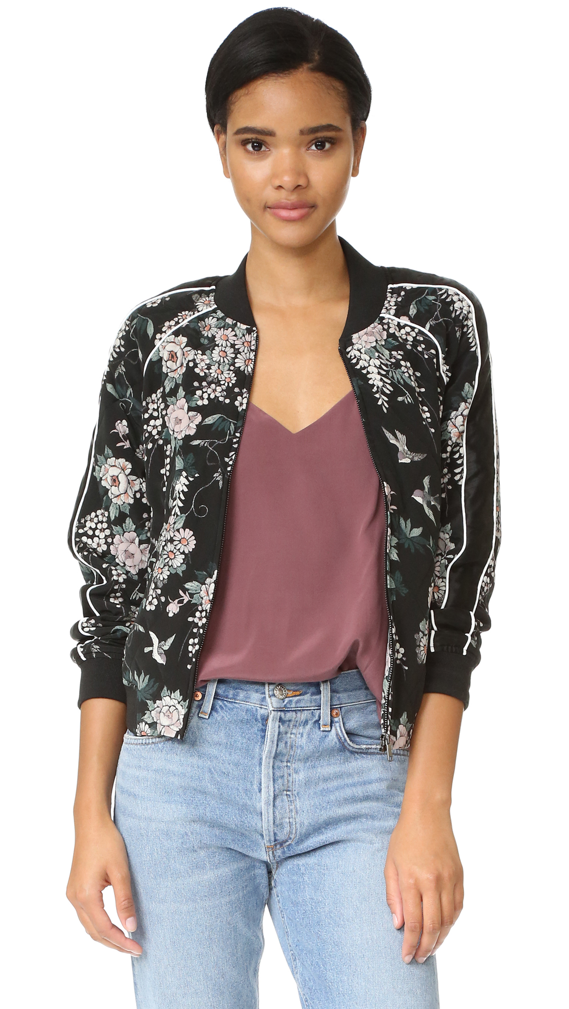 Joie Mace Bomber - Caviar at Shopbop