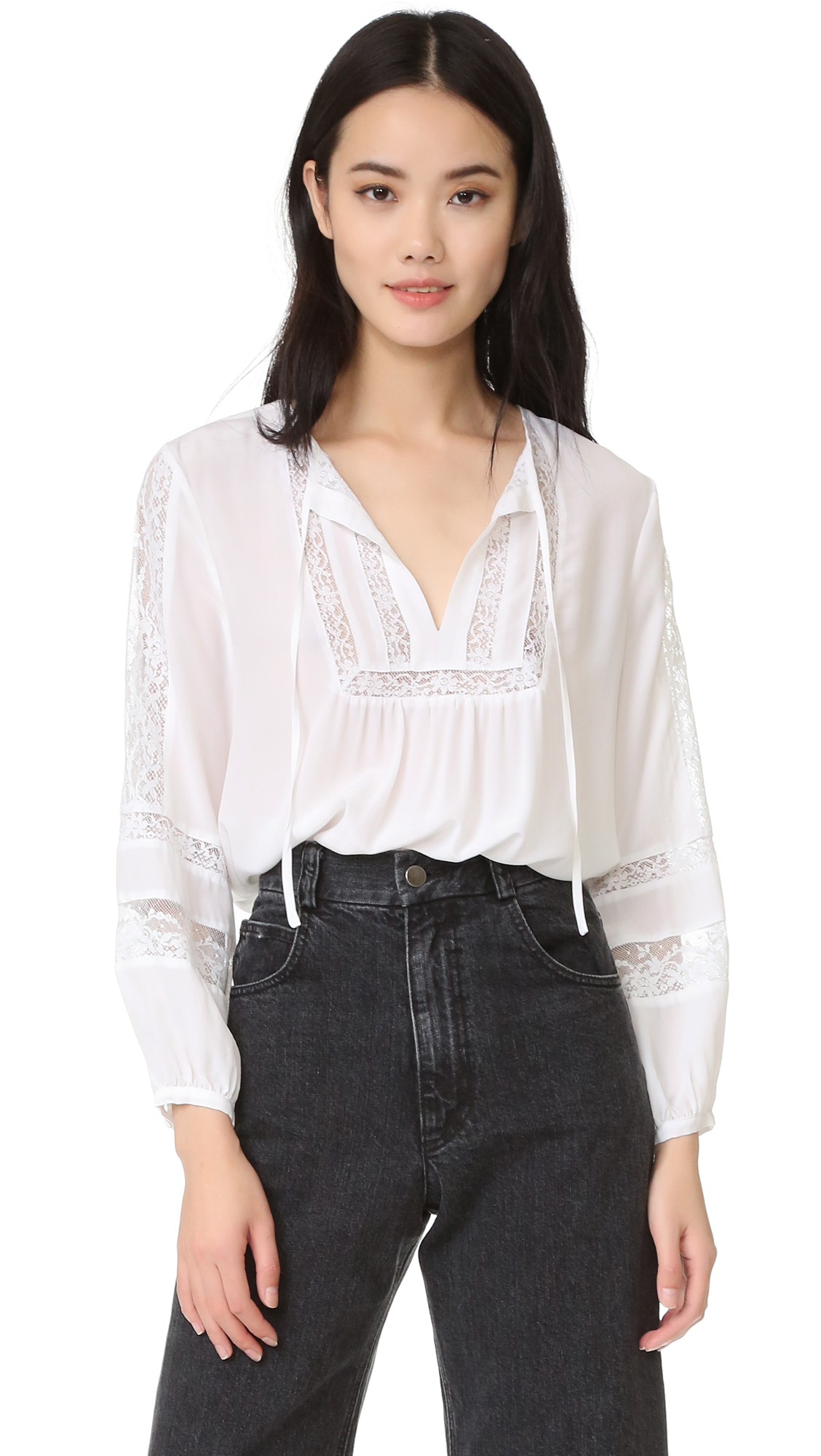 Joie Durango Blouse - Porcelain at Shopbop