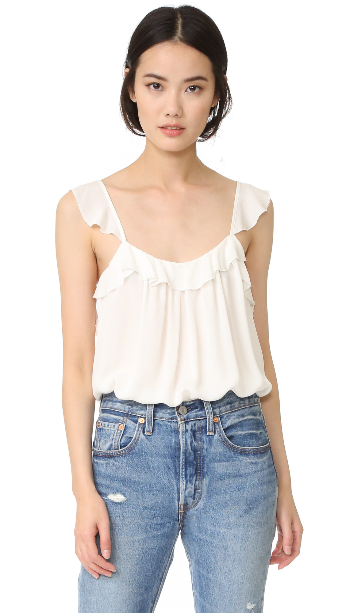 Joie Petal Top - Porcelain at Shopbop