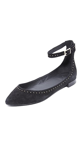 Joie Afra Studded Flats - Black