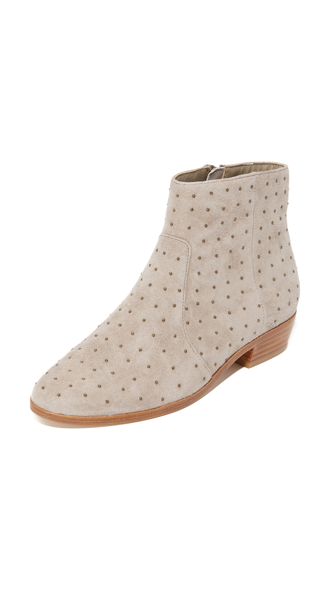 Joie Lacole Studded Booties - Gravel