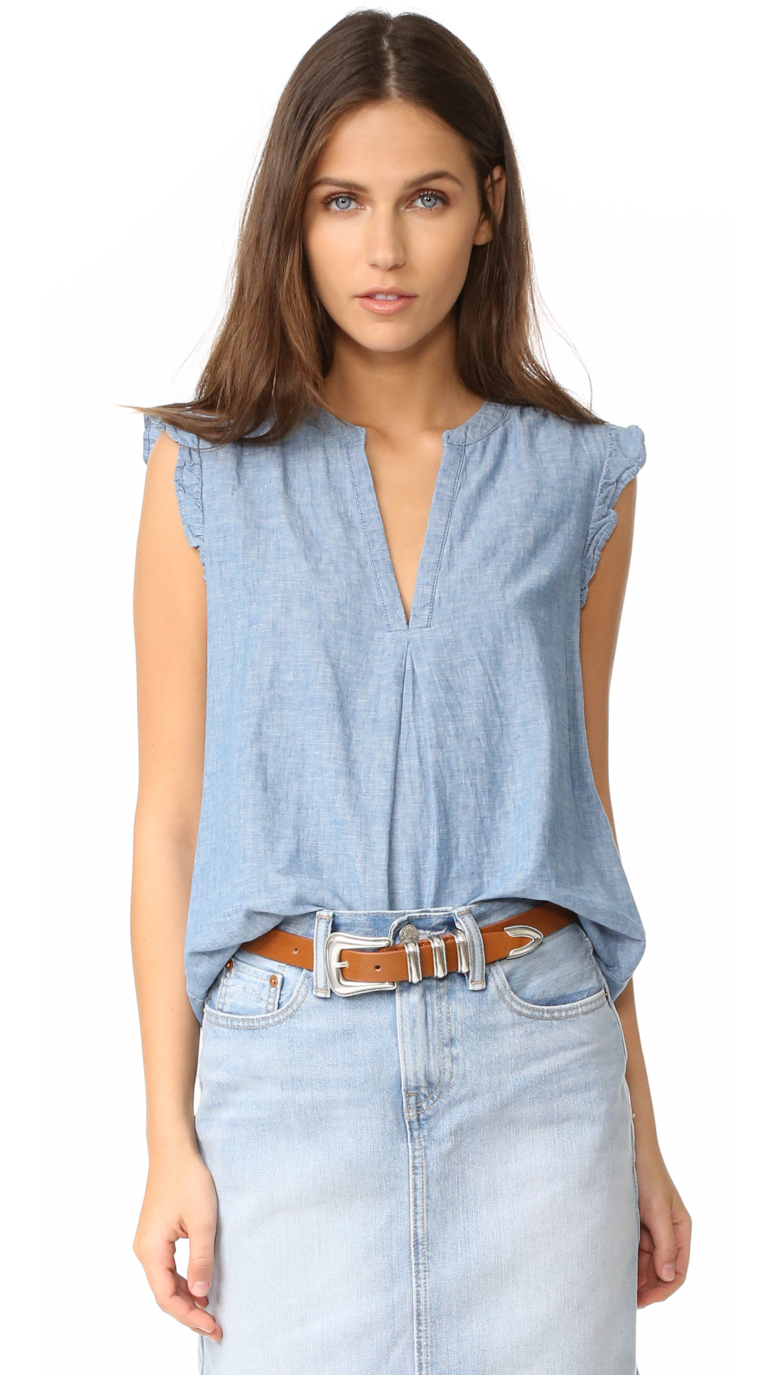 Joie Blaine Blouse - Chambray at Shopbop