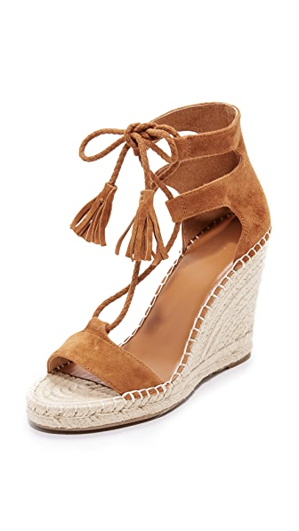 Joie Delilah Lace Up Sandals - Whiskey