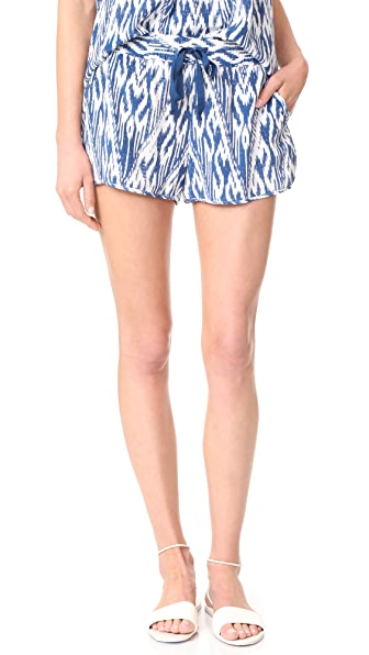 Joie Layana Shorts In High Seas/Porcelain