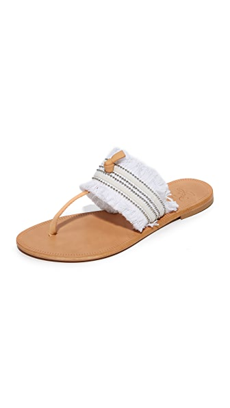 Joie Nari Thong Sandals - Denim Finge/Bianco