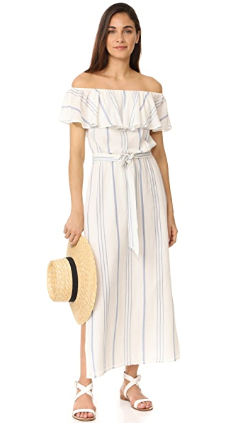 Joie Almante Dress In Porcelain/Olympus Blue