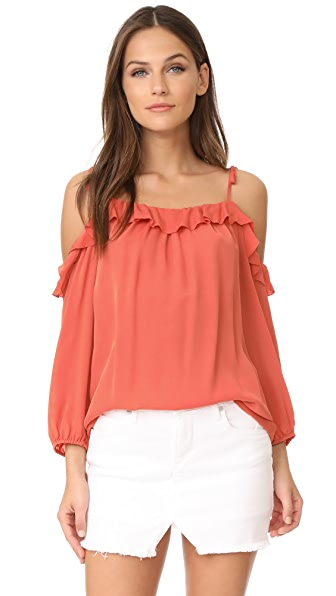 Joie Eukene Blouse - Blood Orange