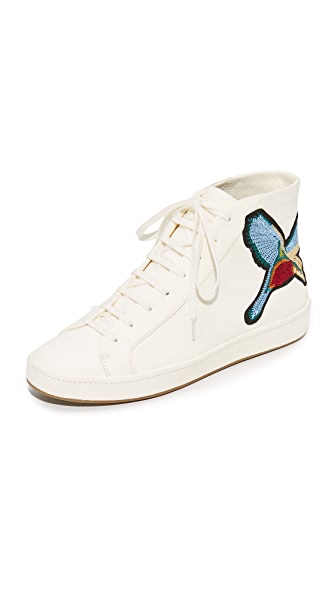 Joie Day Embroidered High Top Sneakers In Shell