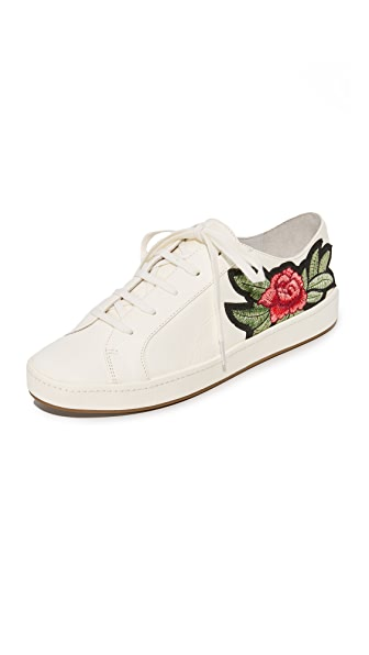 Joie Daryl Embroidered Sneakers - Shell