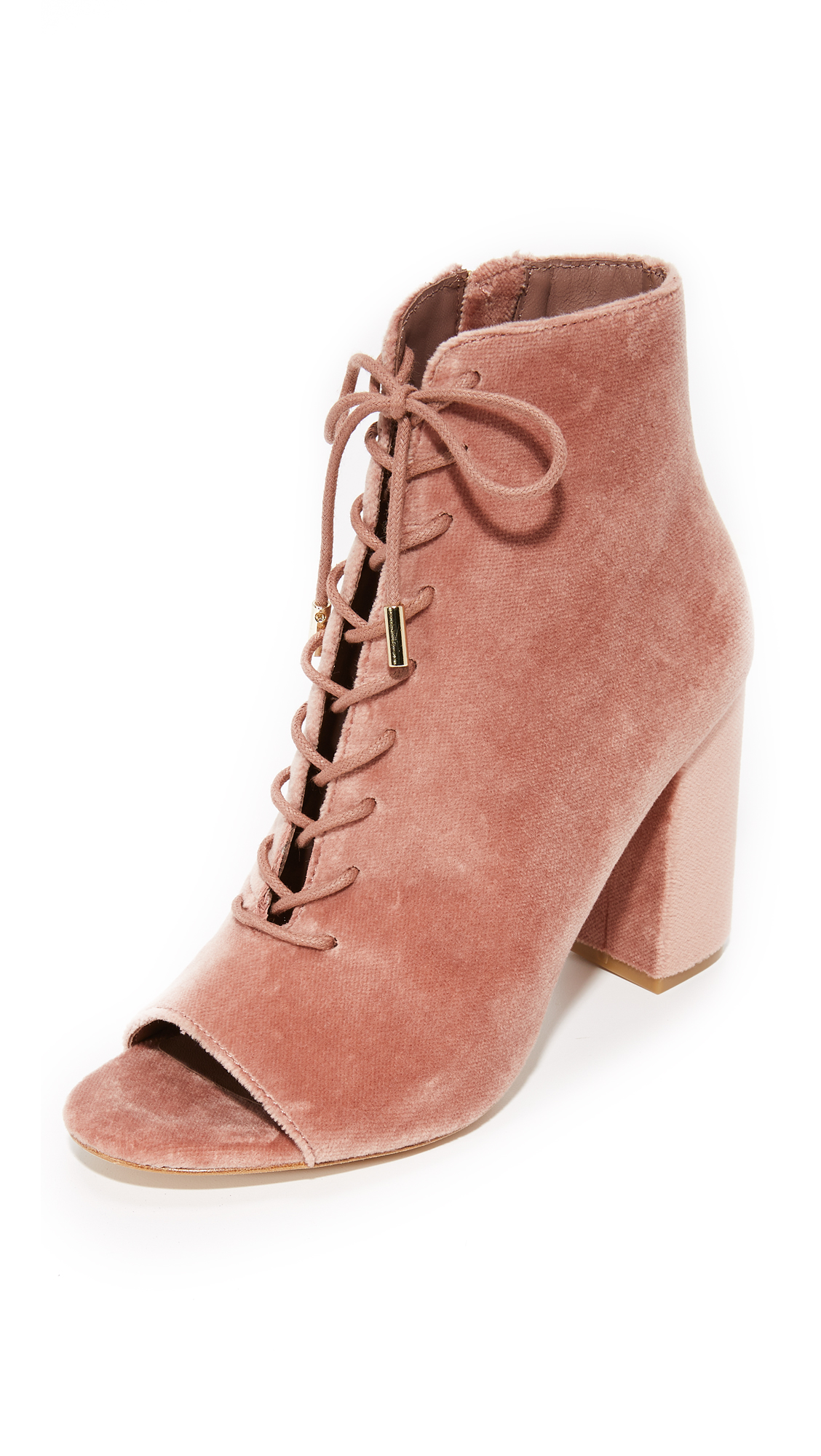 Joie Lakia Peep Toe Booties - Light Mauve