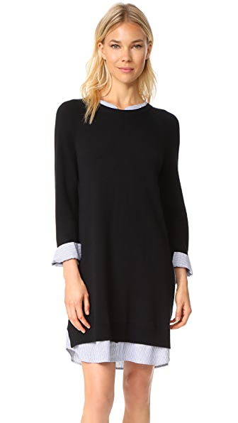 Joie Zaan L Dress - Caviar with Blue Shirting