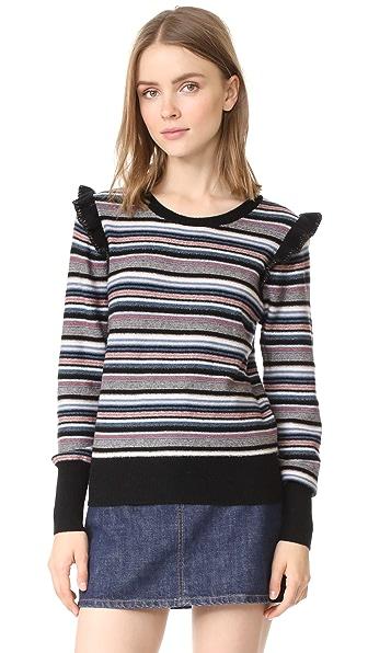 Joie Cais C Sweater In Multi Stripe