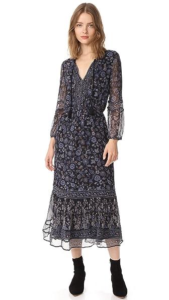 Joie Halima Dress In Coralwood