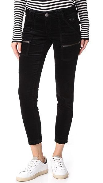 Joie Velvet Park Skinny Pants In Caviar