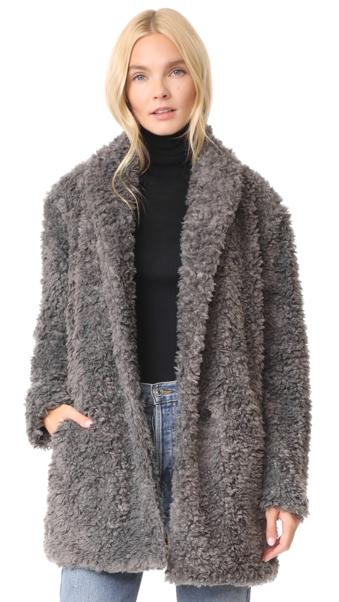 Joie Kavasia Coat - Dove Grey
