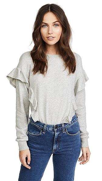 Joie Agnia Sweatshirt In Heather Grey