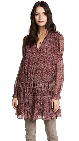Joie Snow Dress In Port Wine