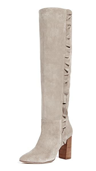 Joie Laisha Boots In Pale Grey