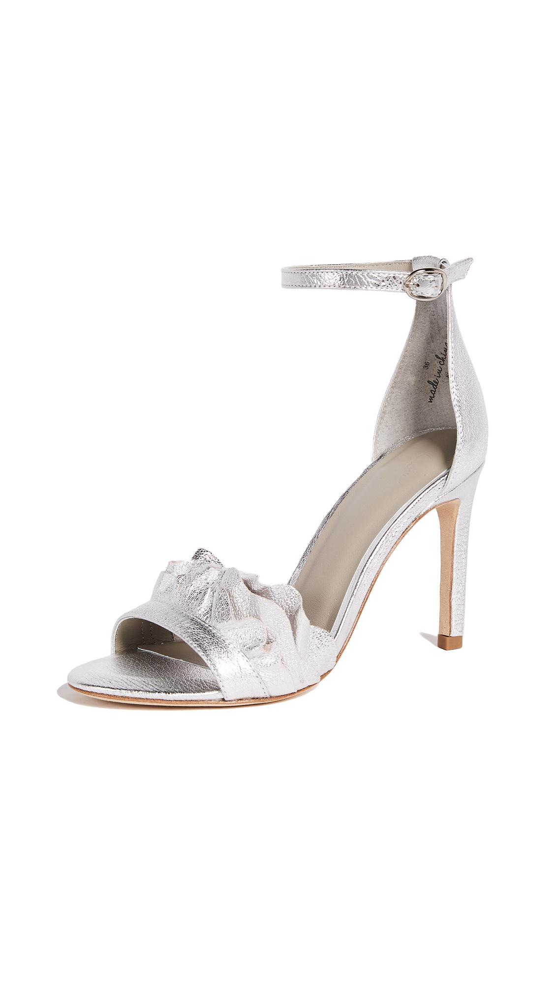 Joie Abigail Sandals - Silver Metallic