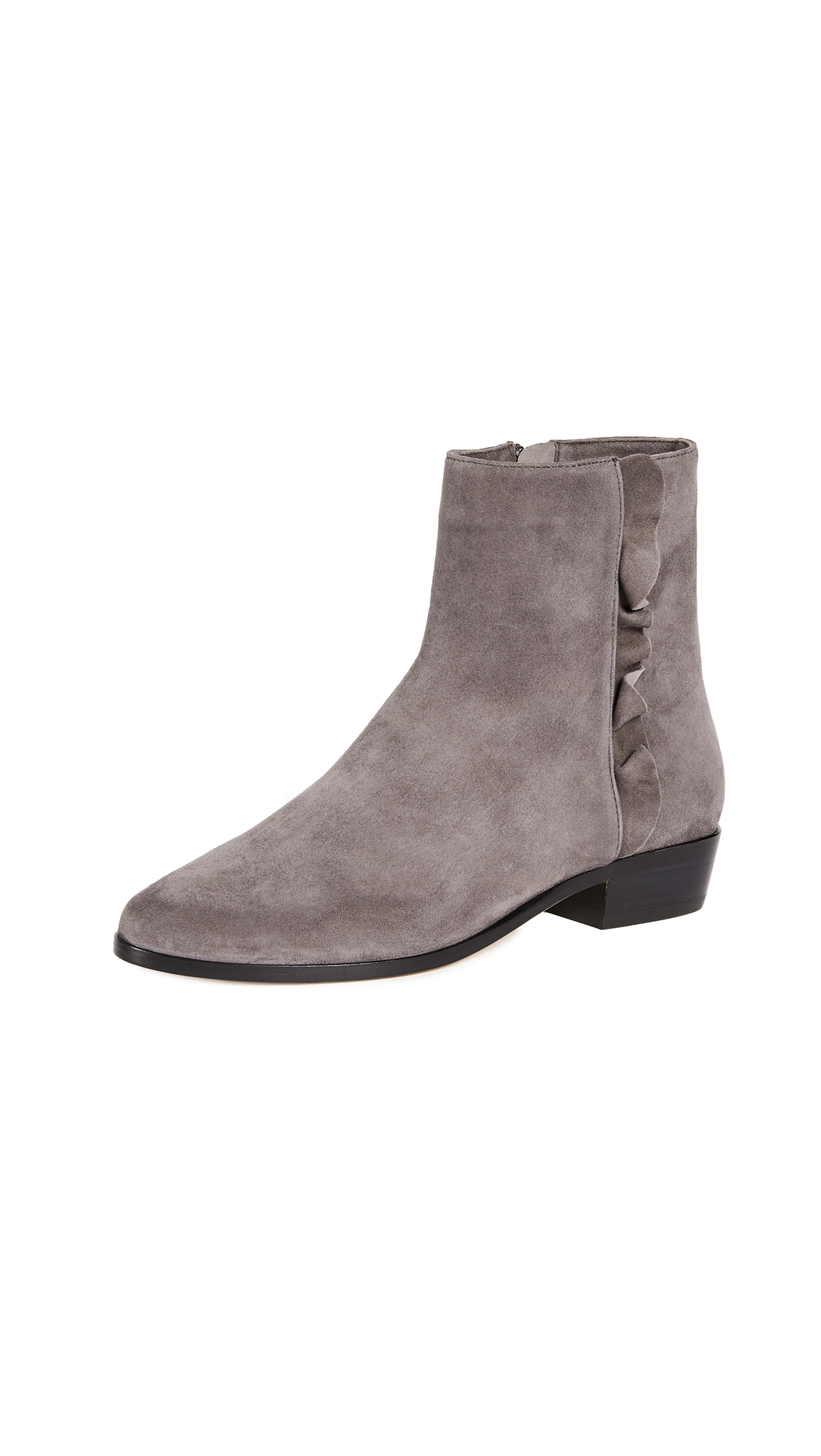 Joie Suede Laleh Booties - Coal