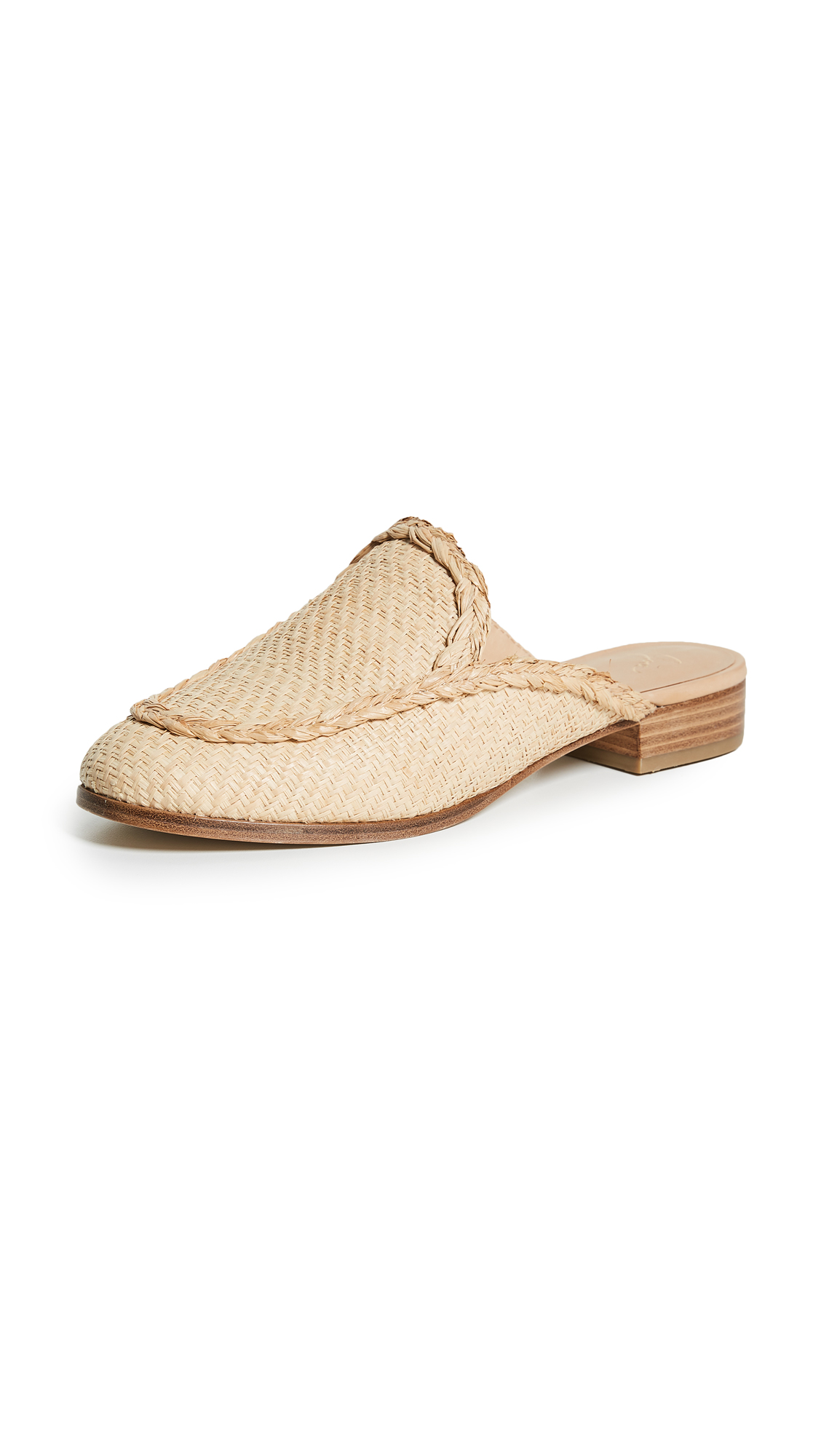 Joie Dallis Woven Mules - Natural