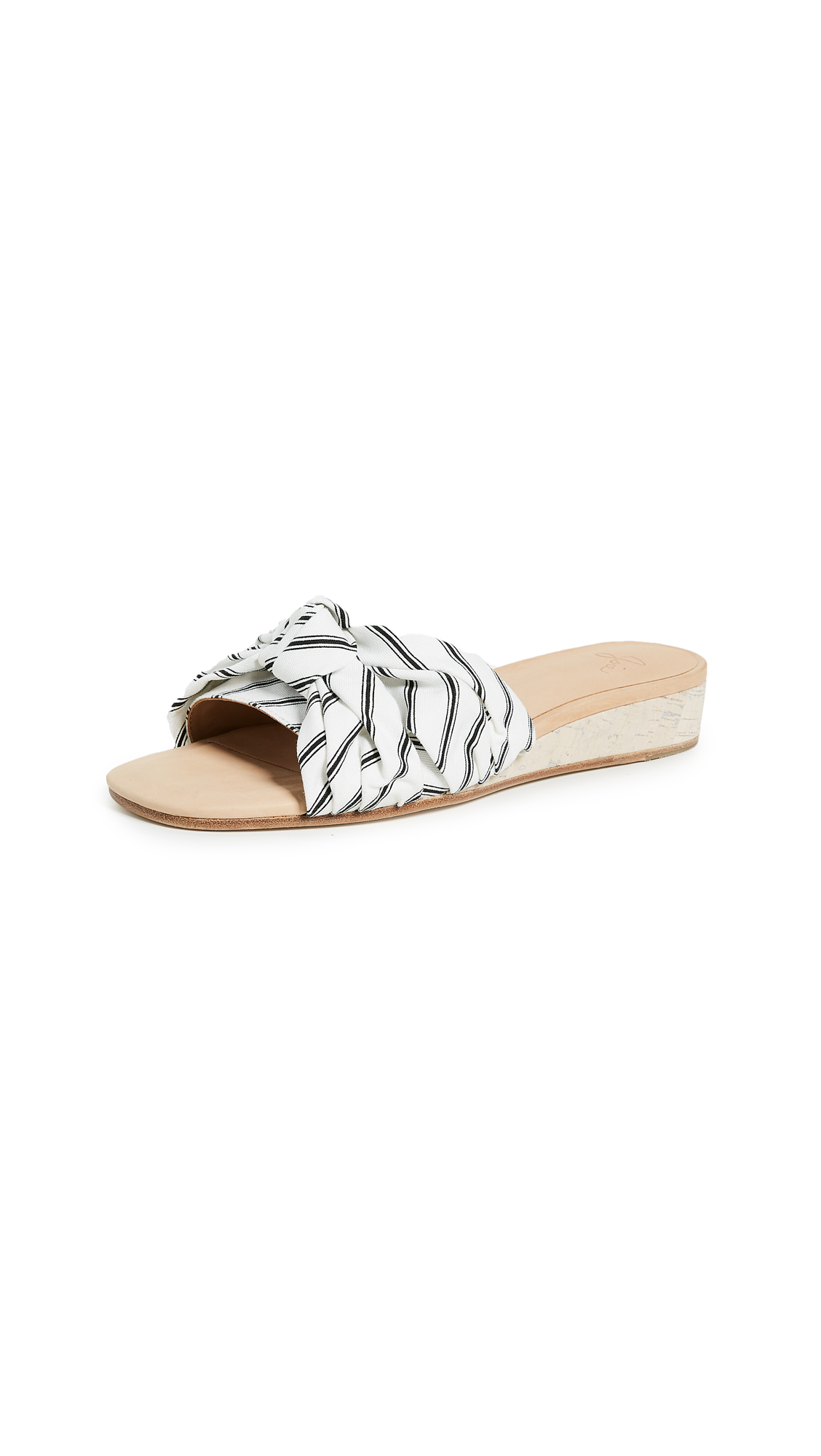 Joie Fay Knotted Slides - Porcelain/Caviar